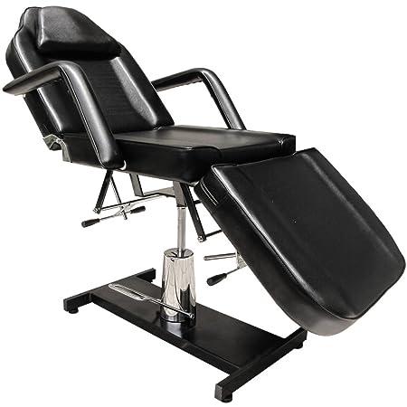 Eyepower - Poltrona professionale da massaggi/terapia/trattamenti di bellezza, 185 x 75 x 63-76 cm (L x L x A), colore: Nero
