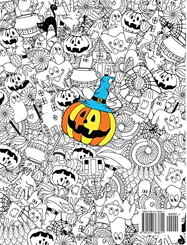 Adult Coloring Book: Happy Halloween : for Relaxation and Meditation: Volume 10