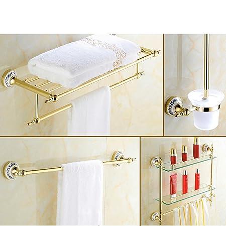Golden portasciugamani/Placcato in oro acciaio inox stile europeo portasciugamani/Bagno accessori da bagno-L
