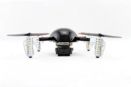 Extreme Fliers- Quadricoptère Micro Drone 2.0 volant radio commandé pour l'intérieur et l'extérieur avec camera video- Noir