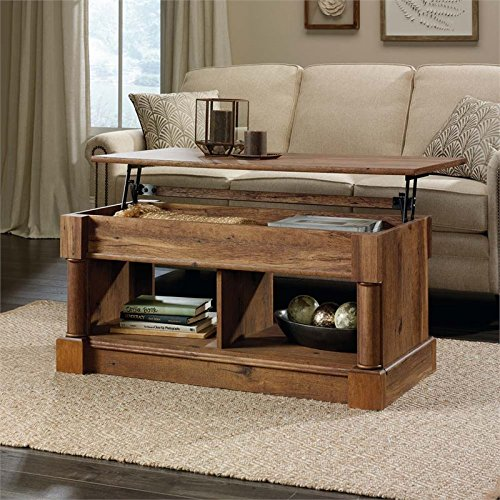Sauder Palladia Lift Top Coffee Table in Vintage Oak 2
