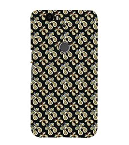 Fuson Premium Back Case Cover Butterfly pattern With yellow Background Degined For Huawei Google Nexus 6P