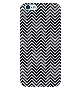 PrintDhaba ZIGZAG PATTERN D-6694 Back Case Cover for APPLE IPHONE 6 (Multi-Coloured)