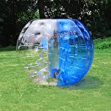 1.5M 5ft Human Knocker ball inflatable Bumper Bubble soccer Zorb Ball for Adult (Blue, 1.5M)
