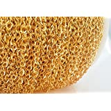10ft Fancy Bulk Gold Curb Chain- Twisted Link- Necklace Jewelry Making Supplies- 5mm