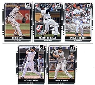 2016 Donruss Baseball Chicago White Sox Team Set of 5 Cards: Jose Abreu(#88), Adam Eaton(#104), Chris Sale(#108), Carlos Rodon(#163), Frank Thomas(#180) in Protective Snap Case