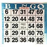 1 on Blue Bingo Paper Card Sheets (500 Sheets Per Pack)