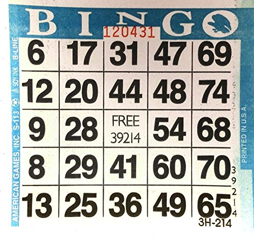 Why Choose 1 on Blue Bingo Paper Card Sheets (500 Sheets Per Pack)