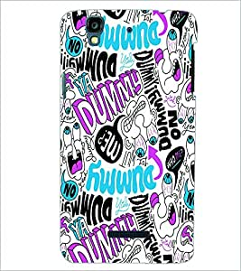 PRINTSWAG COLORFUL TYPOGRAPHY Designer Back Cover Case for MICROMAX YU YUREKAPLUS PLUS