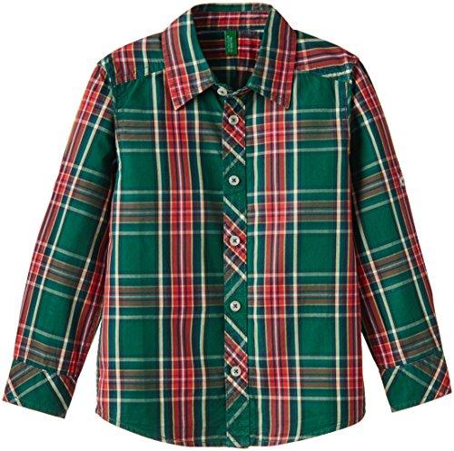 United Colors of Benetton Boys' Shirt (15P5FU95Q1X0G903S_Green_S)