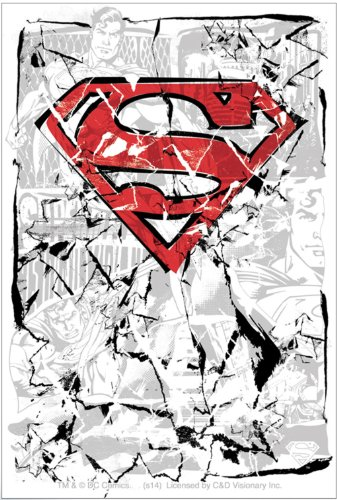 Licenses Products DC Comics Superman Cracked Sticker