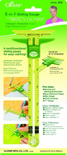 Clover 5 In 1 Sliding Gauge with Nancy Zieman (5 In 1 Tool compare prices)