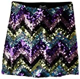 Flowers by Zoe Girls 7-16 Zig Zag Purple Blue Sequin Skirt