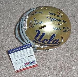 Johnathan Franklin Signed CAREER STATS UCLA Mini Helmet RookieGraph R80525 - PSA DNA... by Sports+Memorabilia