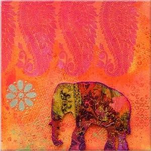 Startonight Glow In The Dark Canvas Art Print Elephant