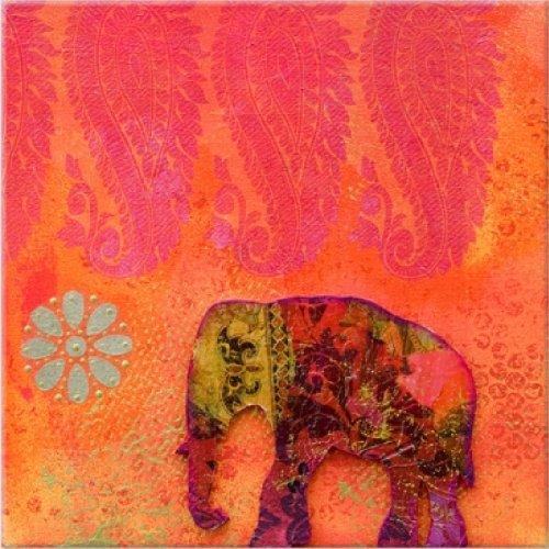 startonight nachtleuchten leinwandbild feng shui elephant 40 cm x 40 cm. Black Bedroom Furniture Sets. Home Design Ideas