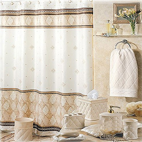 Uphome Shabby Chic Linen Amp Beige Diamond Marble Pattern