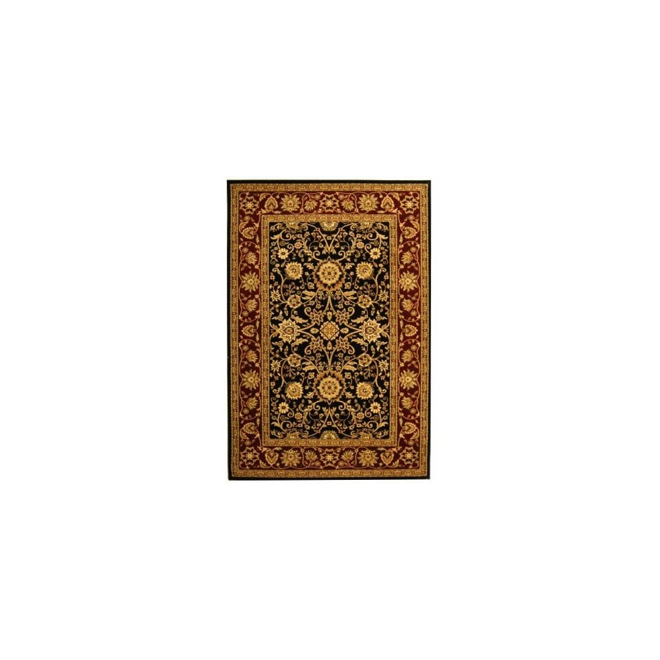 Safavieh Lyndhurst Collection LNH212G Black and Red Area Rug, 5 Feet 3 Inch by 7 Feet 6 Inch