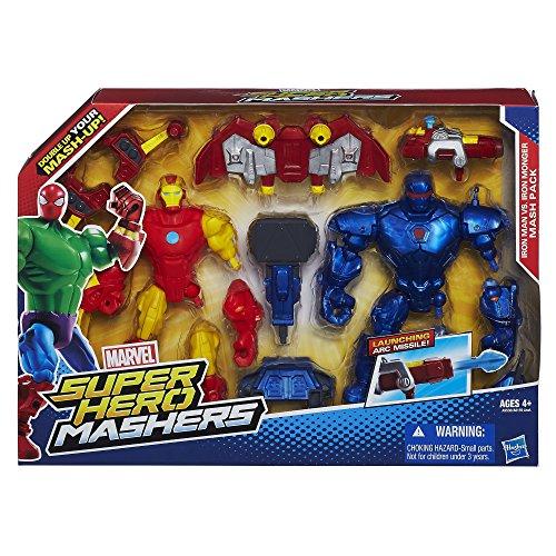 other action figures marvel super hero mashers iron man vs iron monger mash pack was listed. Black Bedroom Furniture Sets. Home Design Ideas