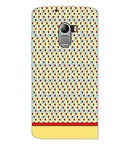 PrintDhaba I Love You Pattern D-1916 Back Case Cover for LENOVO VIBE X3 LITE (Multi-Coloured)