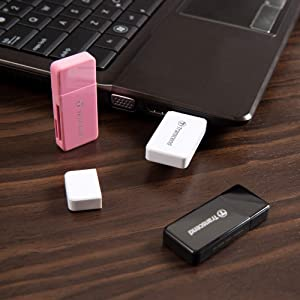 Transcend 32GB SDHC Class 10 Flash Memory Card Up to 30MB/s (TS32GSDHC10) with Card Reader (Tamaño: 32GB)