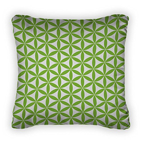 Gear New Flower Of Life Pattern - Sacred Throw Pillow With Removable Cover, Polyester Poplin, 14x14, GN4622