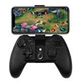 Wireless Game Controller, Dual Shock Wireless 2.4G Connecting Gamepad Joystick With Phone Clip Holder For Android Phone/Windows PC/Play Station 3 (Color: black)
