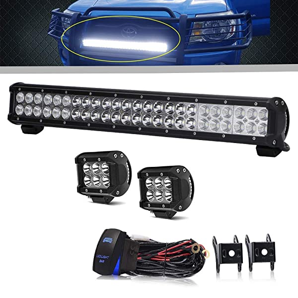 Led Light Bar 23Inch 144W Offroad Work Light Bar Spot Flood ... on pet harness, amp bypass harness, nakamichi harness, suspension harness, dog harness, fall protection harness, obd0 to obd1 conversion harness, pony harness, maxi-seal harness, safety harness, engine harness, cable harness, alpine stereo harness, battery harness, oxygen sensor extension harness, radio harness, electrical harness,