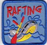 Girl Boy Scout Guides Patch Crest Badge Rafting Boating Canoeing
