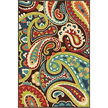Orian Rugs Indoor/Outdoor Paisley Monteray Multi Area Rug (52