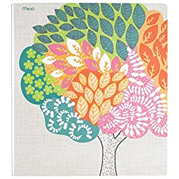 Mead 3 Ring Binder, 1 Inch, Botanical Boutique, Trees Design (73089)