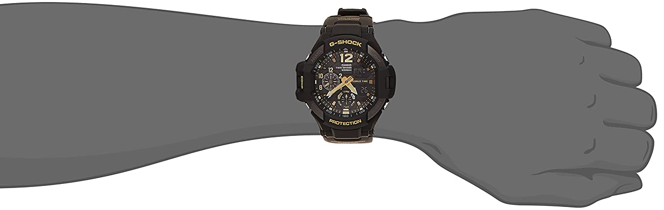 CASIO G-SHOCK MASTER OF G Vintage Black & Gold GRAVITYMASTER GA-1100GB-1AJF MENS JAPAN IMPORT 3