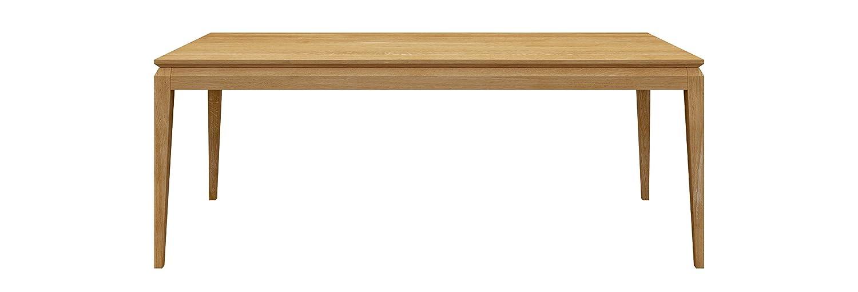 Miloni Esstisch AVANGARDE, 120x80x76 cm Eichen / Massivholz nicht ausziehbar, holzfarbe natur