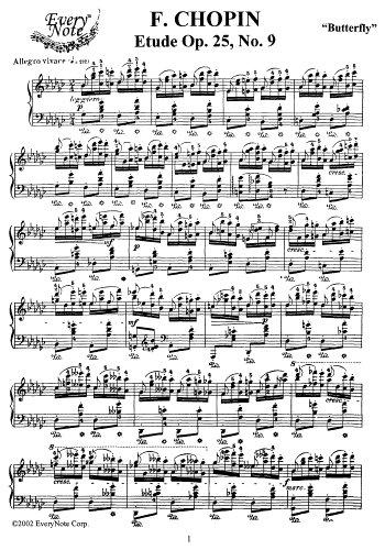 Chopin Etude Op. 25 No. 9