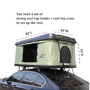 DragonLi Rooftop Tents General Motors Trucks SUVs Camping