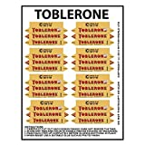 MyTinyWorld Dolls House Miniature Packaging Sheet of 8 Toblerone Boxes