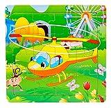 Ularma Madera de los cabritos 16 pieza rompecabezas juguetes para la educaci�n de los ni�os y Puzzles juguetes de aprendizaje (multicolor10)