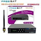 Freesat V7 Combo ATSC DVB-S2 & ATSC Full HD 1080P Digital Satellite Receiver+USB WiFi