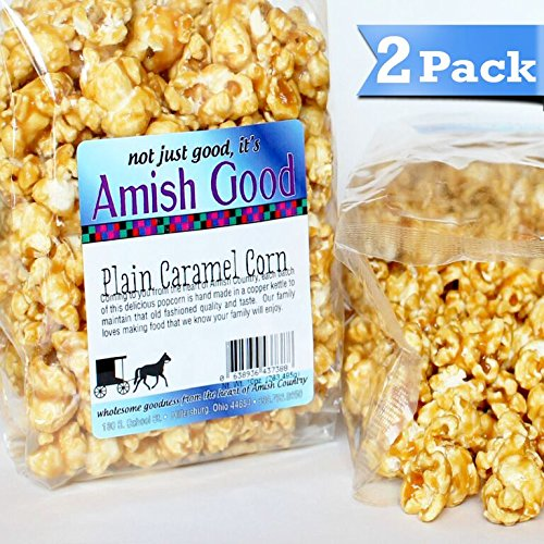 2 Pack Amish Good Premium Caramel Popcorn * Hand Stirred in Copper Kettle * Real Butter and Coconut Oil Makes Better Caramel Corn * Satisfaction Guaranteed! (Amish Popcorn Butter compare prices)