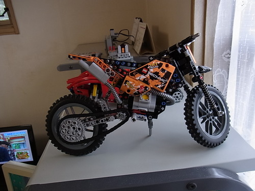 lego technic moto cross bike new ebay. Black Bedroom Furniture Sets. Home Design Ideas