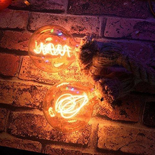 KINGSO E27 attacco Edison lampadario Vintage lampade canapa-corda-lampadari c...