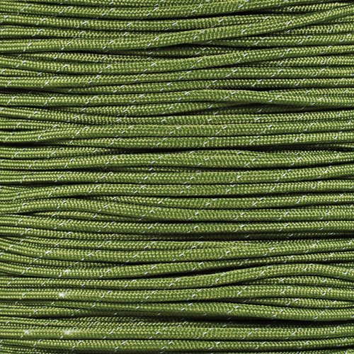 Reflective 7-Strand 4Mm 550Lb Paracord Rope Made In The Usa - Parachute Cord With Reflective Tracers front-58075