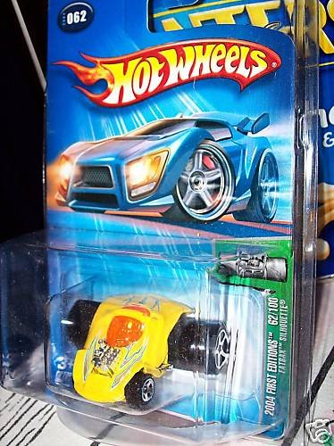 Hot Wheels 2004 First Editions Fatbax Silhouette YELLOW #62