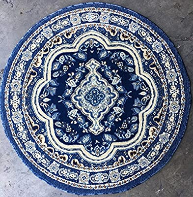 Traditional Persian Long Runner Rug Dark Blue Design 520(31in.x14ft.5in.)