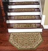 Dean Premium Carpet Stair Treads - Classic Keshan Sage 31