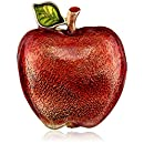 "Napier ""Giftable"" Gold Tone and Red Apple Pin"