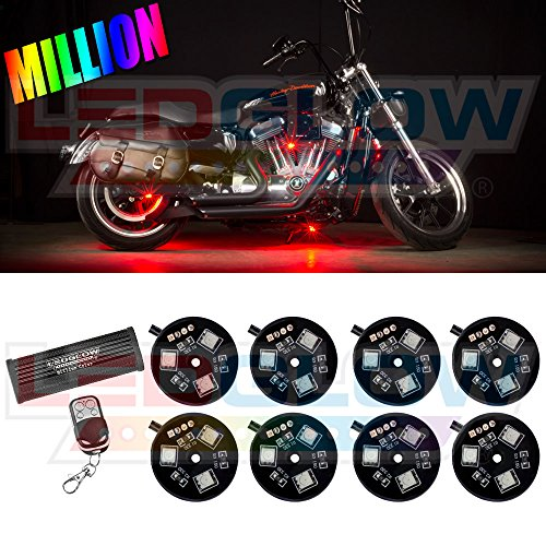 8Pc. Advanced Million Color Led Pod Lighting Kit