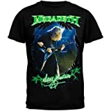 FEA Men's Megadeth Dave Mustaine Photo T-Shirt, Black, X-Large (Color: Black, Tamaño: X-Large)