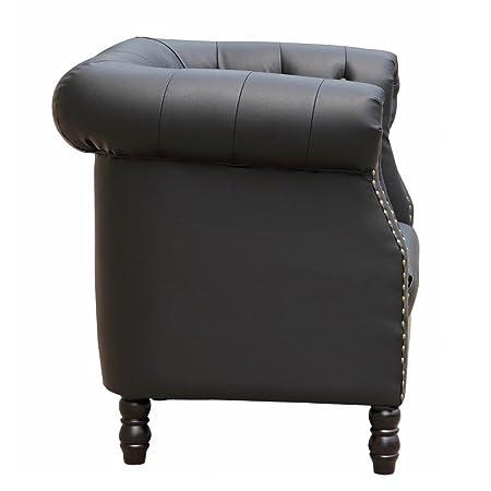 Fine Mod Imports Chester Sofa, Black