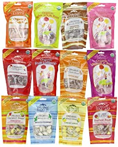 YummyEarth Organic Pops & Drops, 12-Count Sampler